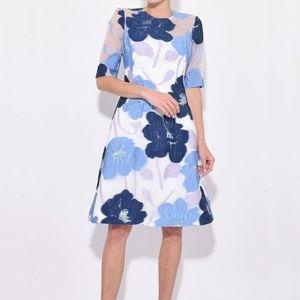 Lela Rose Holly Elbow Sleeve Dress